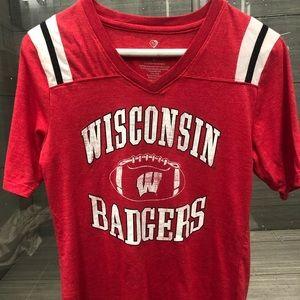 Wisconsin Badgers Football T-Shirt Sz Small